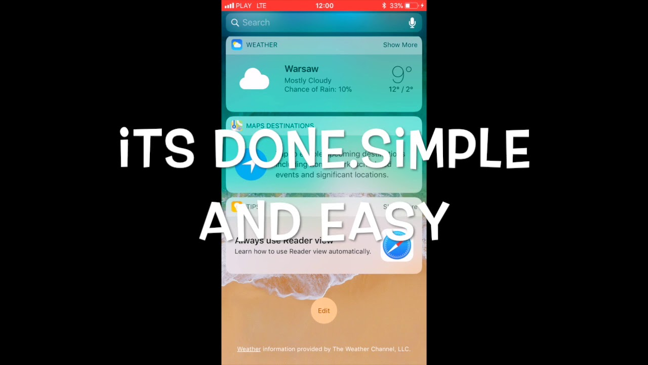 HOW TO REMOVE OR ADD STOCK WIDGET IN IOS 11 NOTIFICATION CENTER