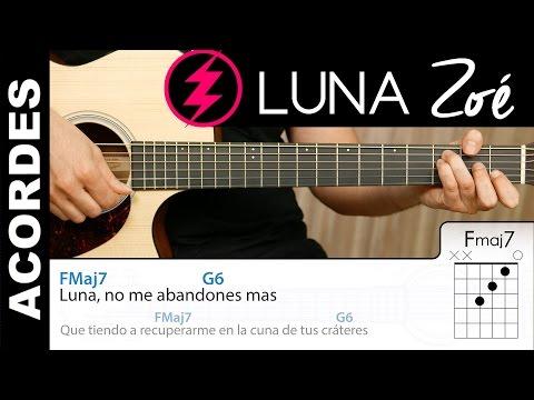 Luna de Zoé Guitarra acordes y letra tutorial - Demo ACORDES