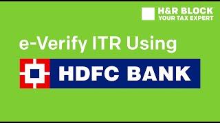 How To E Verify Itr Using Hdfc Net Banking