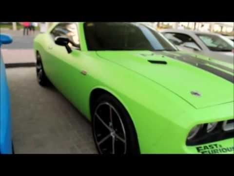 Extreme Car Park Show Matte Green Challenger Srt8 Youtube