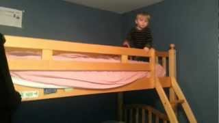 Toddler Jake's Bunk Bed Stunt