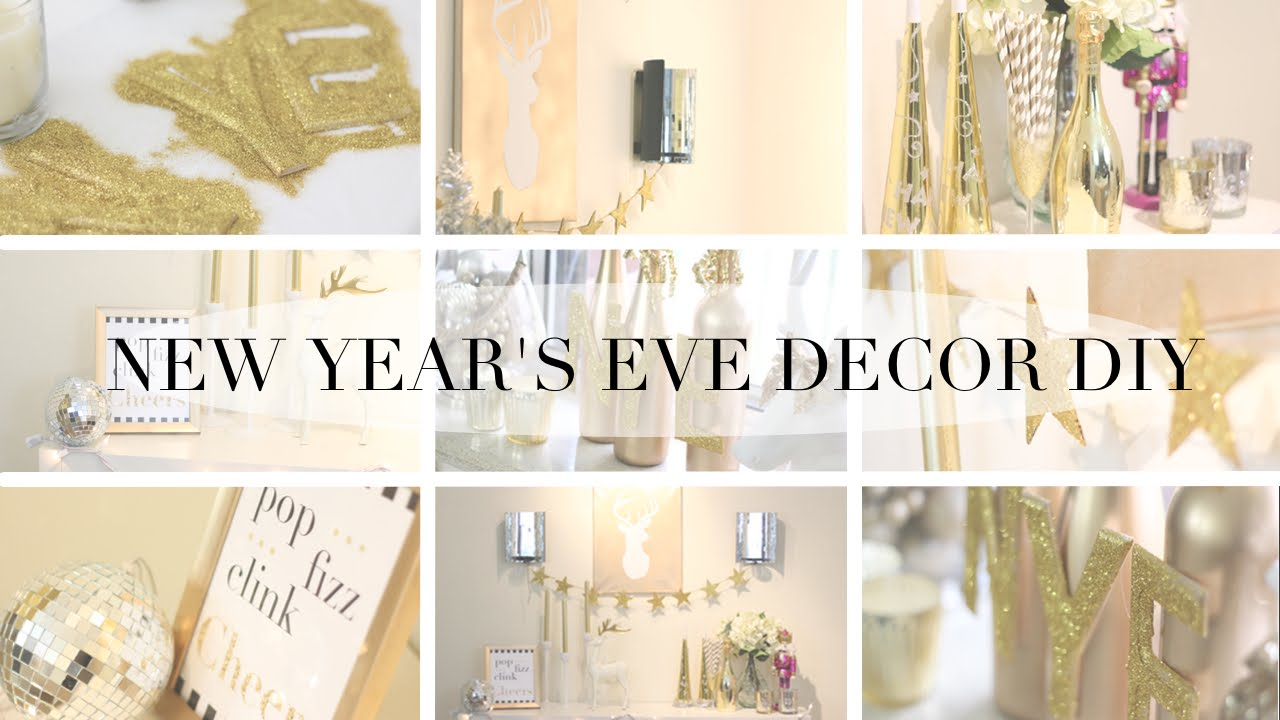 HOW TO: New Years Eve Party DIY Decor - YouTube