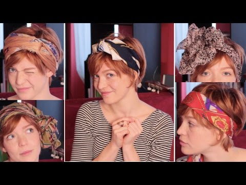 11 coiffures avec un foulard