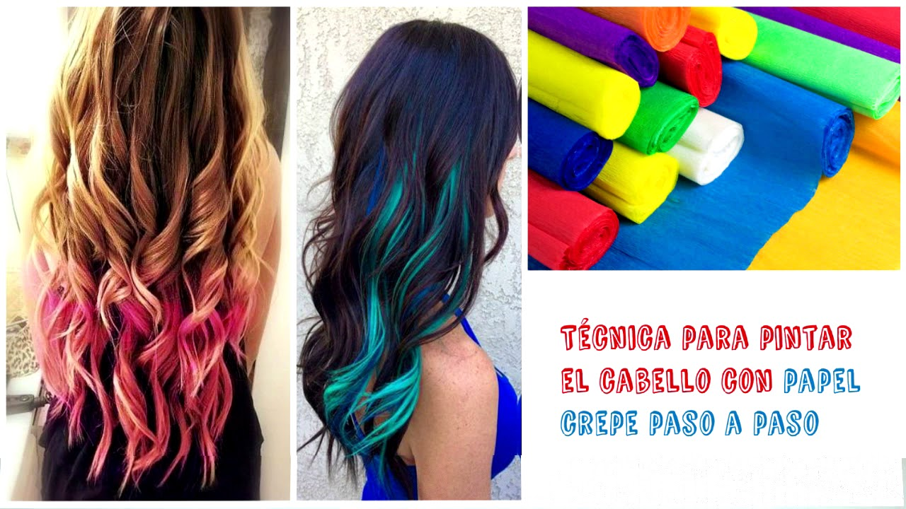 Como pintar el cabello o pelo con papel crepe youtube - Videos de como hacer crepes ...