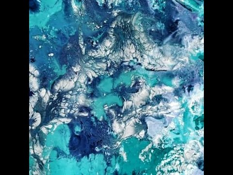 How to create marble texture using acrylic paint water for Acrylic background techniques