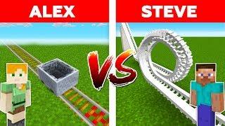 Minecraft - ROLLERCOASTER BATTLE / Alex vs Steve #7