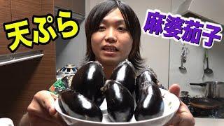 【シェアハウス】屋上で育てた大量のナスで2つの料理を作る! thumbnail