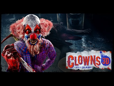 clowns 3d music by slash at halloween horror nights