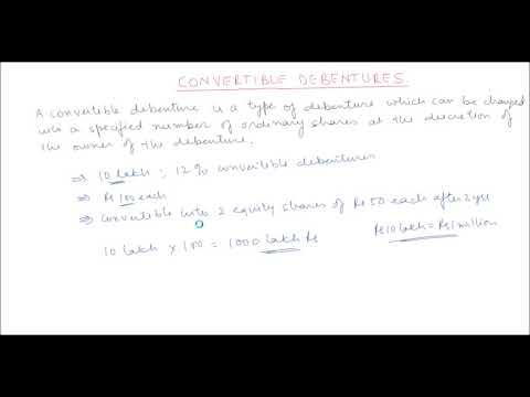 Convertible debentures - Fundas