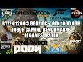 Ryzen 1200 + GTX 1060 6GB - 1080p Gaming Benchmarks - 11 Games Tested