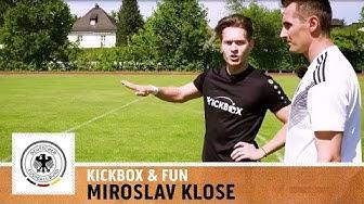 """""""Platziert! Dann hast du keine Chance"""" - Miroslav Klose   Torschuss Challenge   WM-Special   Kickbox"""