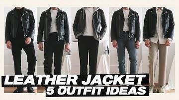 [남자 가죽자켓 코디] 내 남친이 입어줬으면 하는 가죽자켓을 활용한 5가지 남친룩 봄 아우터 코디