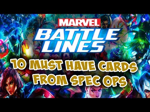 Marvel Battle Lines 10 Must Have Spec Ops Cards