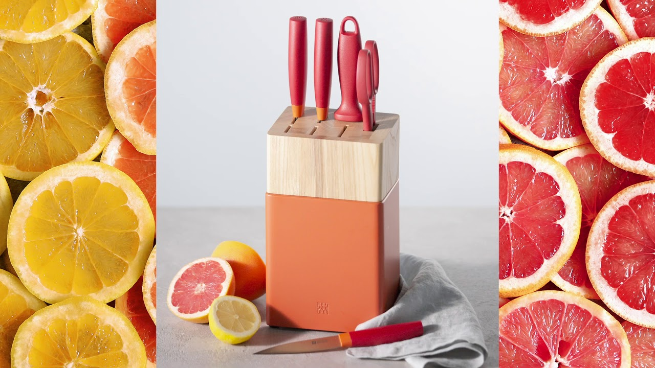 Now S // Knife Block Set // Set of 6 (Grenada Orange) video thumbnail