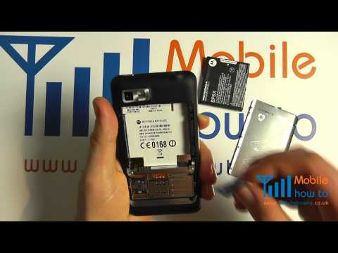 How To Insert & Remove a SIM Card - Motorola MOTOLUXE