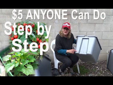 How To Build a RAISED BED Garden-Grow Tons of Vegetables Pot Plants in EASY Tote METHOD Small Spaces