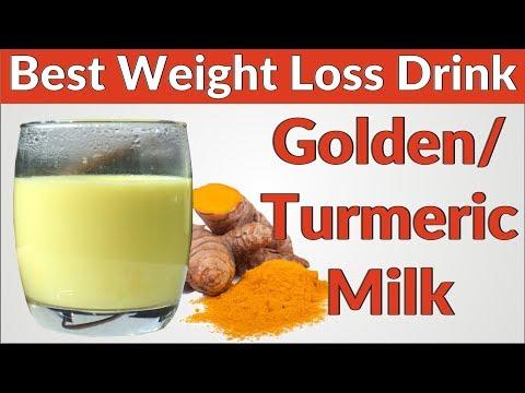 weight-loss-drink:-golden-milk-/-turmeric-milk-/-haldi-doodh-recipe---the-best-drink-for-weight-loss