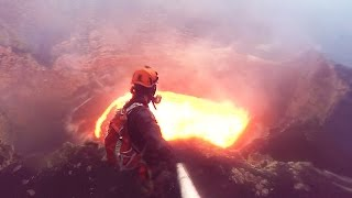 Diving Into a Volcano With a GoPro! | What