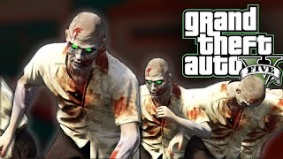 ZOMBIE INVASION! Can I Survive With Just A Baseball Bat? GTA 5 PC Mods And Funny Moments