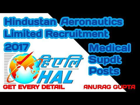 Hindustan Aeronautics Limited Recruitment 2017 – Medical Supdt Posts | Apply Online