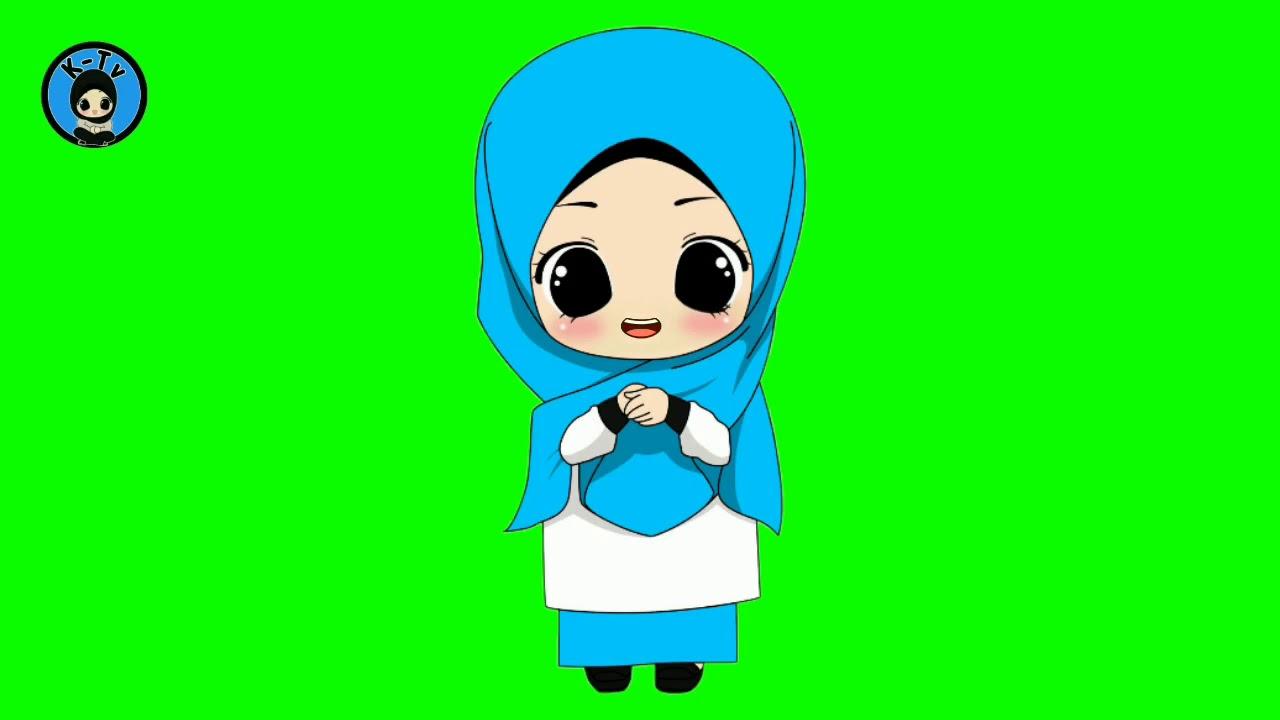 Green Screen Animasi Muslimah Mulut Bergerak Youtube