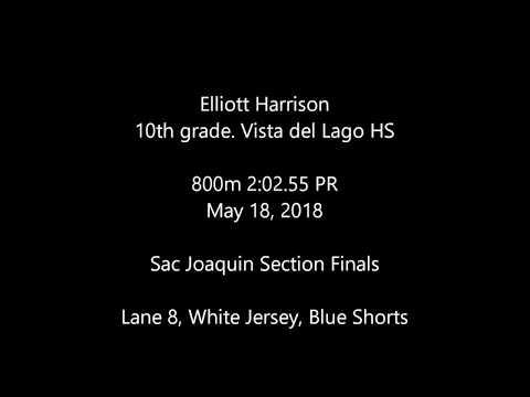 Elliott Harrison, soph @ Vista del Lago HS 800m 051818