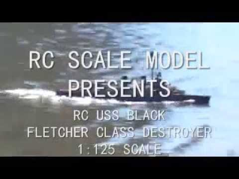 RC READY TO RUN USS BLACK – FLETCHER CLASS DESTROYER | The