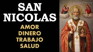 Oracion a San Nicolas para amor, dinero, trabajo y salud