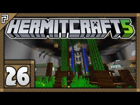 🐚 Hermitcraft 5 | Let's Play Minecraft Survival | The God Pigs! Wood Storage Dual Tree! [#26]