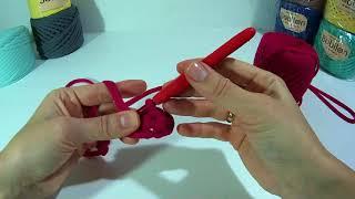 Вязание для начинающих. Урок 2. Вяжем красивые столбики без накида из трикотажной пряжи