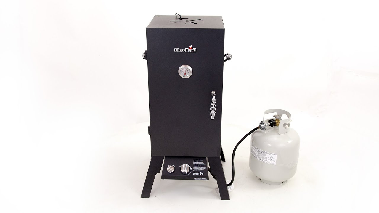 Char-Broil Vertical Gas Smoker - Lowe\'s Exclusive - YouTube