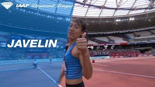 Huihui Lyu 65.54 Wins Women's Javelin Throw - IAAF Diamond League London 2018