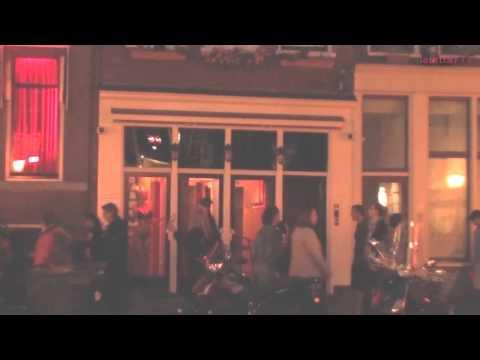 Амстердам, вечер на улице Красных Фонарей, август 2013