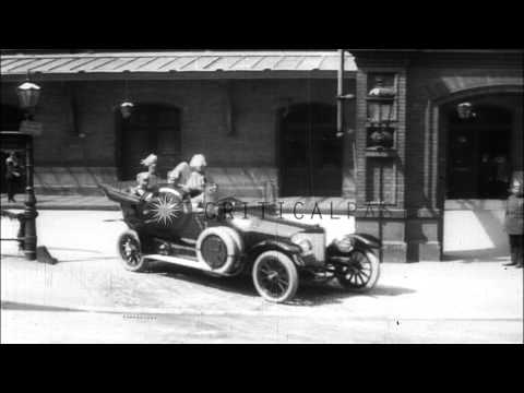Visit of Russian Czar Nicholas II to Germany, meeting with Kaiser Wilhelm II HD Stock Footage
