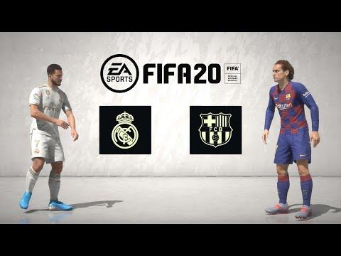 FIFA 20 Full Game: El Clasico - Real Madrid Vs Barcelona (Legendary + Menu Walkthrough) XBOX ONE