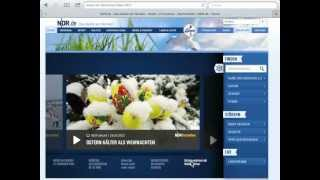 NDR Mediathek Redesign 2012 2013