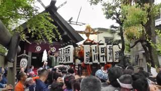 2012年6月17日午後1時25分頃から撮影。宮元の神輿で金杉通りから三島神...