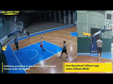 A simple warm-up drill practicing heads up and reacting wile dribbling - 12React  C.R.M