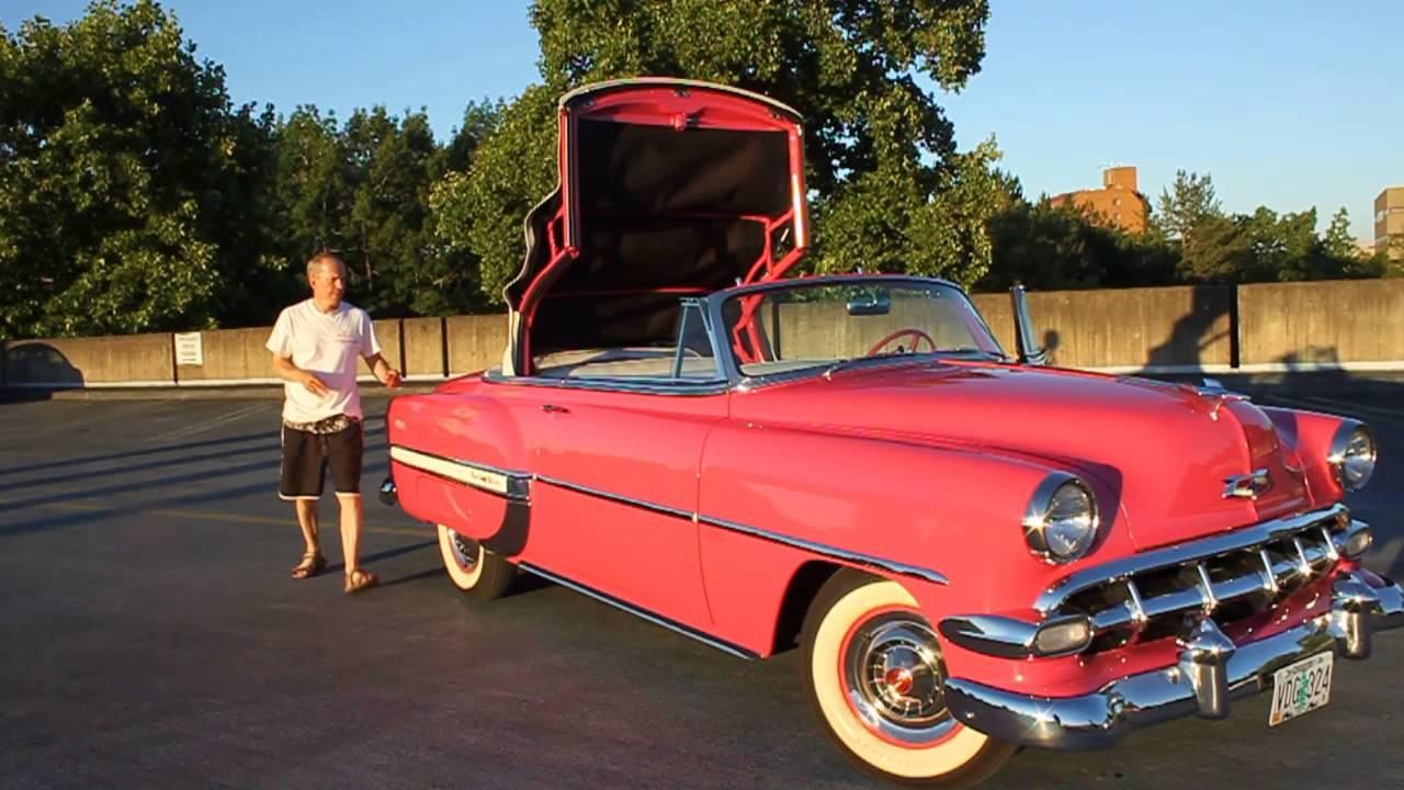 All Chevy 1954 chevrolet belair : 1954 Chevrolet Bel Air Convertible - YouTube