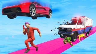 Run Fast Or GET FLATTENED! - GTA 5 Funny Moments