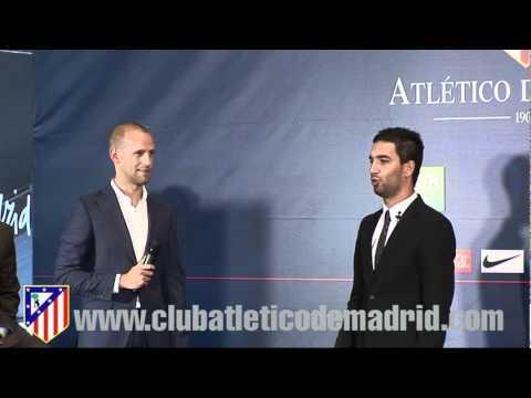 Presentacion de Arda Turan como nuevo jugador del Atletico de Madrid