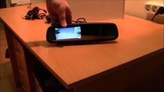 Обзор зеркала с видеорегистратором и функцией автозатемнения AVS0488DVR (AUTO DIMMING)