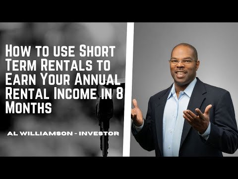 20170511 -  How to use Short Term Rentals to Earn Your Annual Rental Income in 8 Months Without Wo