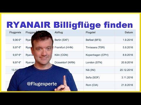 Ryanair Billigflüge Einfach Finden Und Buchen (2017) Mit Dem Flugexperten