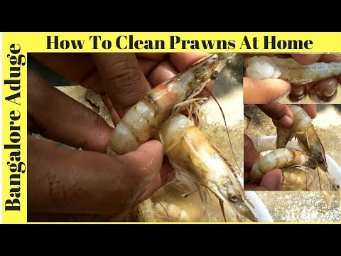 How To Clean Prawns At Home | Prawns  Cleaning Process | Bangalore Aduge