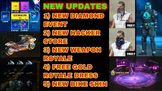 Free fire next upcoming events, dresses and guns update tricks tamil