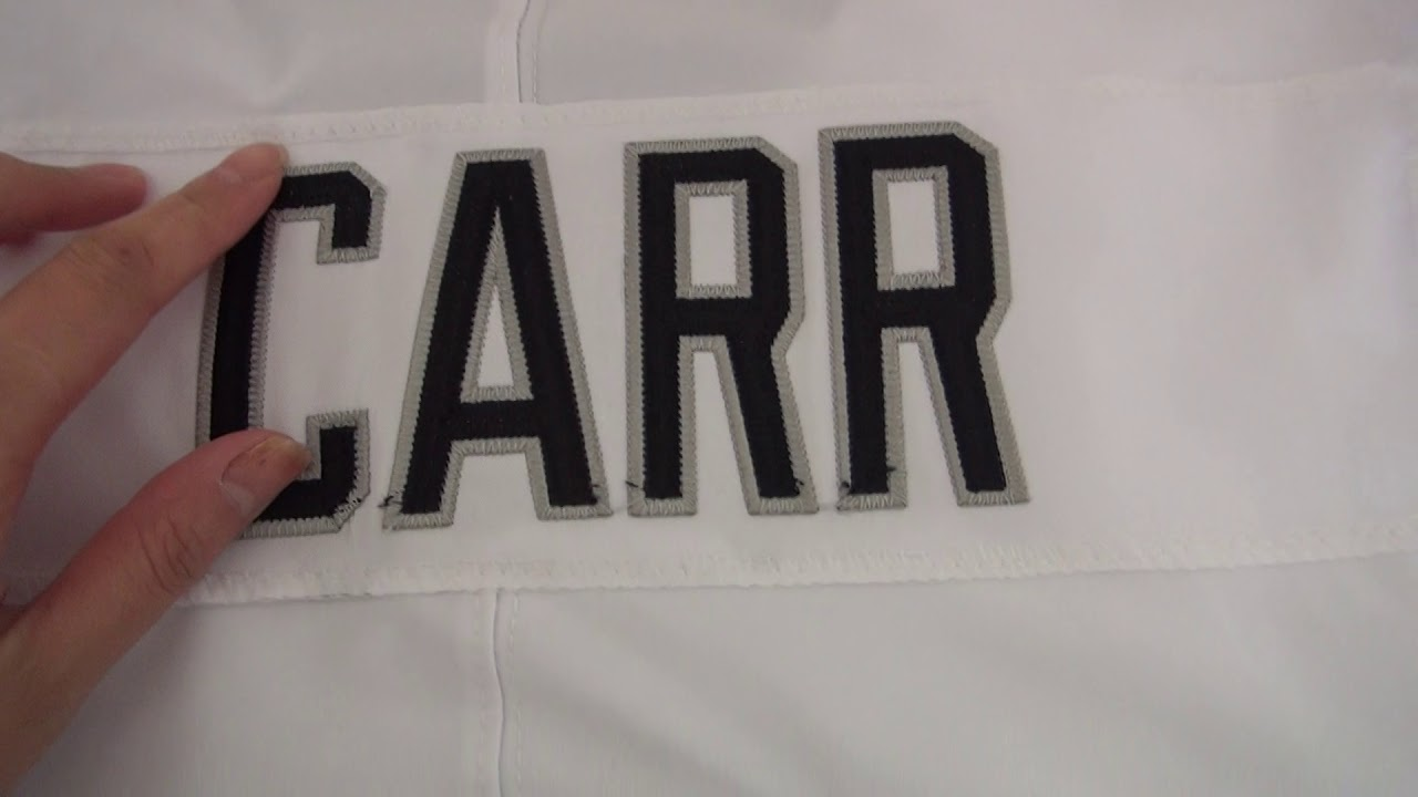 huge discount c02ee b39f2 NFL JERSEYS REVIEW Derek Carr 4 Oakland Raiders Nike Vapor Untouchable Elite