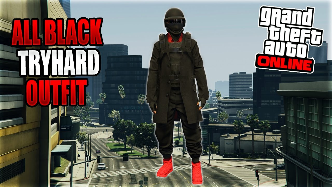 All Black FreemodE / Tryhard Outfit | GTA 5 Online Glitches 1.36 - YouTube