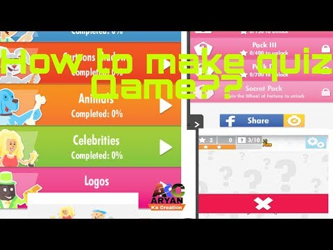 How to make a quiz game in Sketchware???? { Without codeing}.