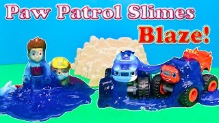PAW PATROL Nickelodeon Paw Patrol Slimes Blaze and the Monster Machine a Paw Patrol Video Parody